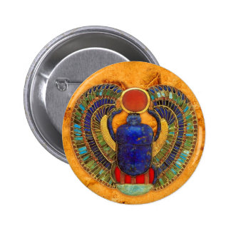 Sacred Scarab of Ancient Egypt 2 Inch Round Button