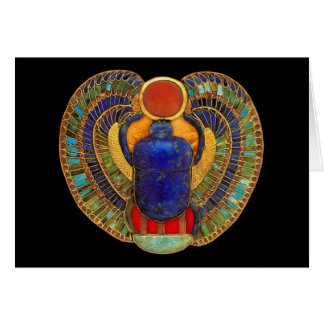 Sacred Scarab of Ancient Egypt Card