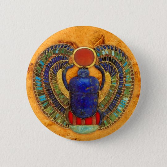 Sacred Scarab of Ancient Egypt Pinback Button