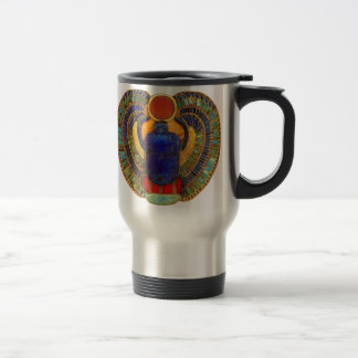 Sacred Scarab of Ancient Egypt Travel Mug