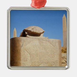 Sacred scarab statue in the Temple of Amun Ornaments