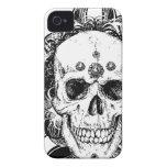 SAcred Skull Metal Goth iPhone 4 Case