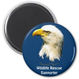 SACRED SPIRIT Bald Eagle 2 Inch Round Magnet