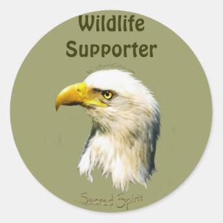 SACRED SPIRIT Bald Eagle Round Sticker