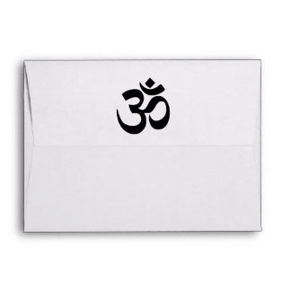 Sacred symbol Om Envelopes