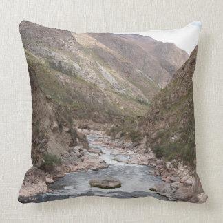 Sacred valley Urubamba throw pillow