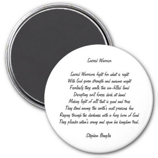 Sacred Warrior Poem Magnet