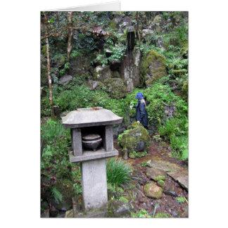Sacred waterfall greeting card