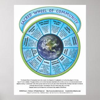 Sacred Wheel of Community Print