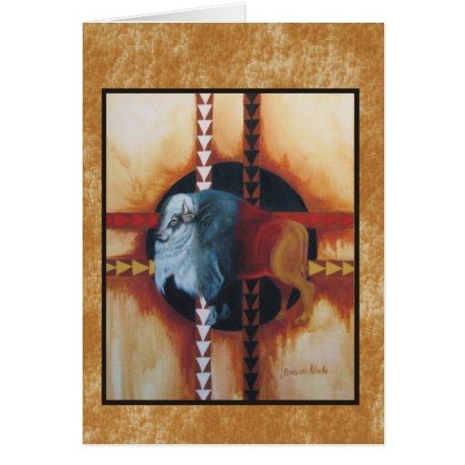 Sacred White Buffalo Card