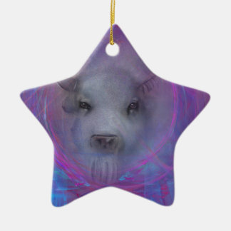 "Sacred ""White Buffalo"" ""native american"" gifts Ceramic Ornament"