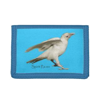Sacred White Raven Wildlife Photo for Birdlovers Tri-fold Wallet