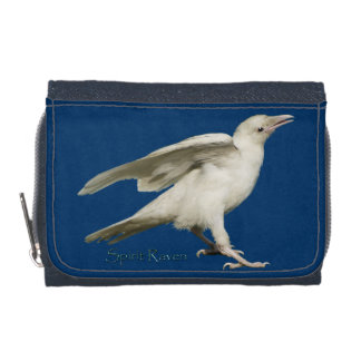 Sacred White Raven Wildlife Photo for Birdlovers Wallets