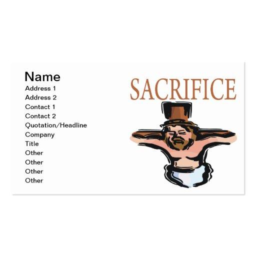 Sacrifice Business Card Templates
