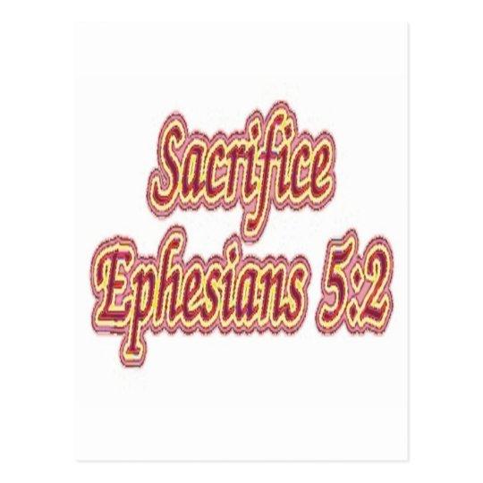 Sacrifice Ephesians 5:2 Postcard