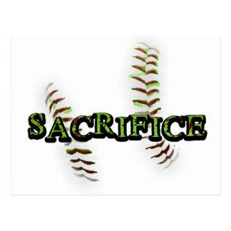 Sacrifice Fastpitch Softball Postcard