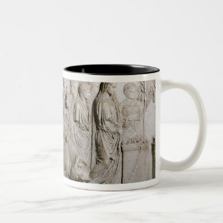 Sacrifice of a bull, a ram and a pig Two-Tone coffee mug