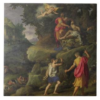 Sacrifice of Isaac, 1601 (oil on panel) Ceramic Tile