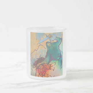 Sacrifice of Isaac by Adi Holzer Frosted Glass Coffee Mug