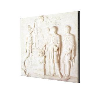 Sacrifice to Hercules, c.1766 (marble) Canvas Print