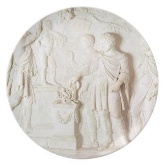 Sacrifice to Hercules, c.1766 (marble) Melamine Plate