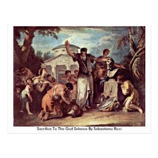 Sacrifice To The God Selenos By Sebastiano Ricci Postcard