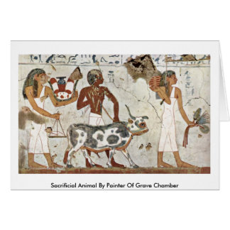 Sacrificial Animal By Painter Of Grave Chamber Greeting Card