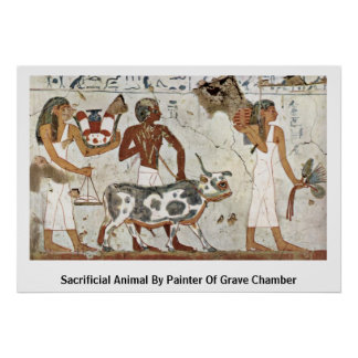 Sacrificial Animal By Painter Of Grave Chamber Poster