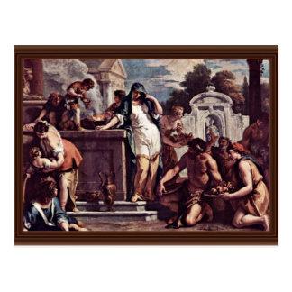 Sacrificio a la diosa Vesta de Ricci Sebastiano Postal