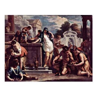 Sacrificio a la diosa Vesta de Ricci Sebastiano Tarjeta Postal