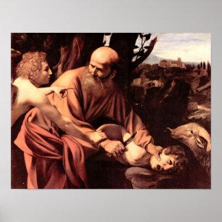 Sacrificio de Caravaggio-The de Isaac Impresiones