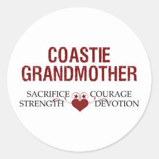 Sacrificio de la abuela de Coastie, fuerza, valor Pegatina Redonda