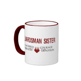 Sacrificio de la hermana del soldado de la taza de dos colores