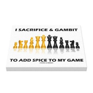 Sacrifico y gambito para añadir la especia a mi impresion en lona
