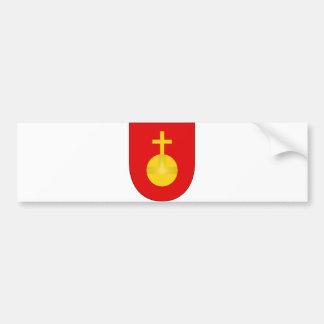 Sacro Imperio Romano del escudo del brazo de la ca Etiqueta De Parachoque