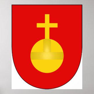 Sacro Imperio Romano del escudo del brazo de la ca Poster