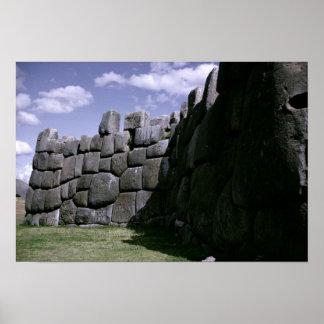 Sacsahuman Incan Fortress Poster