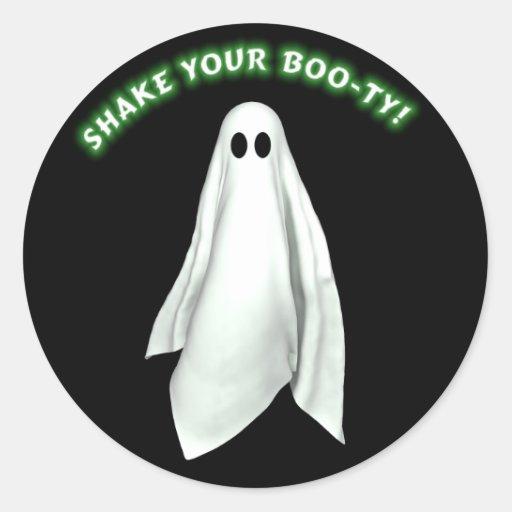 Sacuda a su pegatina de Halloween del botín