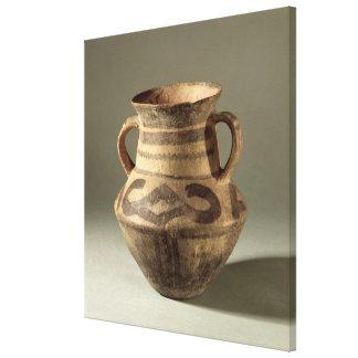 Sacuda, de la provincia de Gansu, c.1300-700 A.C. Impresion En Lona