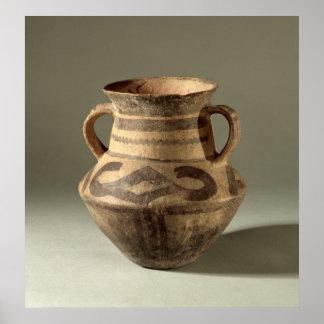 Sacuda, de la provincia de Gansu, c.1300-700 A.C. Póster