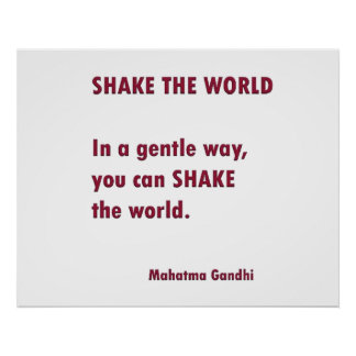 SACUDA el mundo   de Mahatma Gandhi Póster