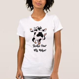 Sacuda su camiseta del fabricante de la leche