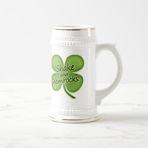 Sacuda sus tréboles tazas de café
