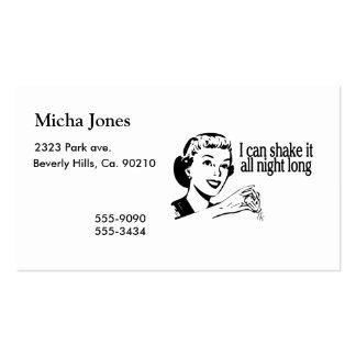 Sacúdalo durante toda la noche retro tarjetas de visita