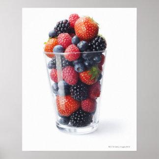 Sacudida de fruta cruda póster