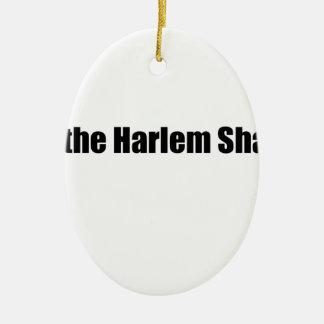 ¡Sacudida de Harlem! Adorno Navideño Ovalado De Cerámica