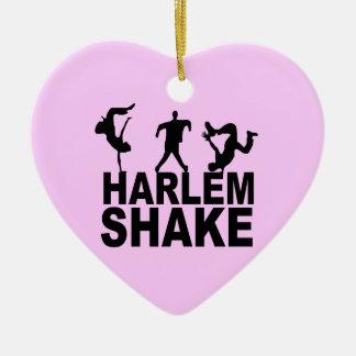 Sacudida de Harlem Adorno De Cerámica En Forma De Corazón