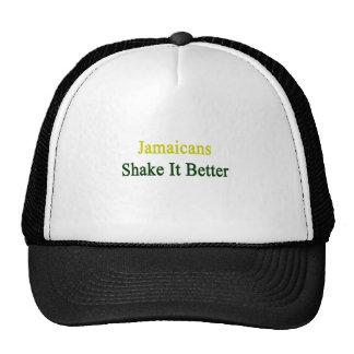 Sacudida de Jamaicans él mejor Gorros Bordados