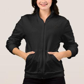 Sacudida de la cremallera del paño grueso y suave chaqueta deportiva