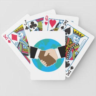 Sacudida de la mano del mundo cartas de juego